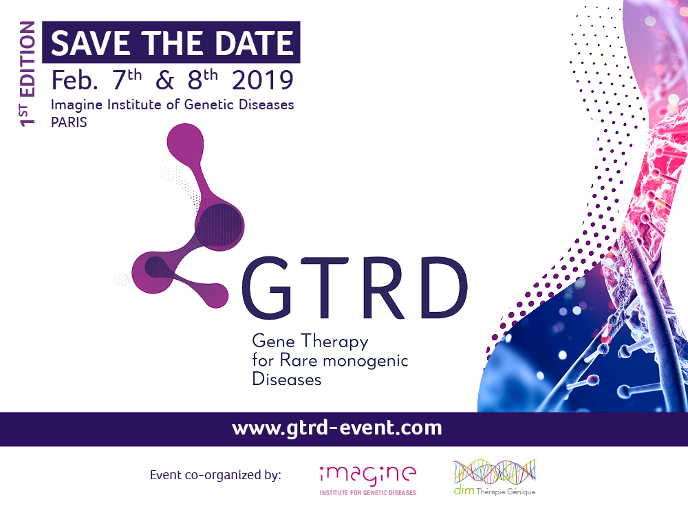 GTRD Gene Therapy for rare monogenic Diseases feb 7 & 8 2019